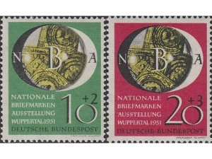 141-142 National Philatelic Exhibition (NBA),Wuppertal