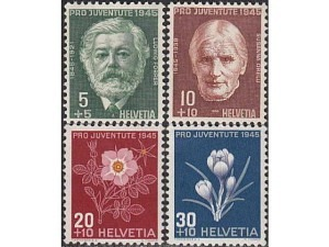 465-468 Ludwig Forrer and Susanne Orelli, Birth Centenary: Flowers