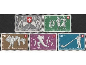555-559 Zurich in the Swiss Confederation for 600 years; Folk Games