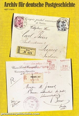 Archive for German Postal History 1/1974