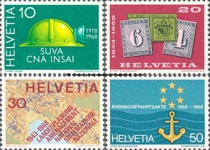 887-890 50 years of the Swiss Accident Insurance Institute (SUVA); 125 years of Swiss postage Stamps