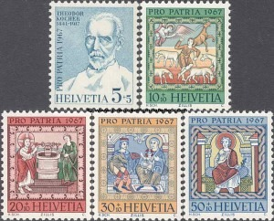 853-857 50th Anniversary of Theodor Kocher's death; Arts and Crafts