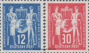 243-244 Founding Conference of the International Postal Union Federation